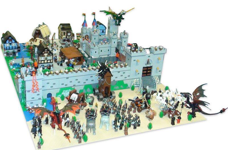 MOC: Fantasy Castle diorama - LEGO   LEGO MOCs group ...