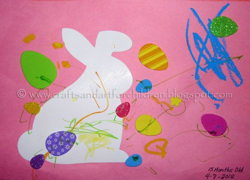 Super easy toddler easter craft pinterest easter crafts easter easy toddler easter craft my 1 year old made this precious easter craft at a michaels arts crafts free make take last weekend negle Gallery