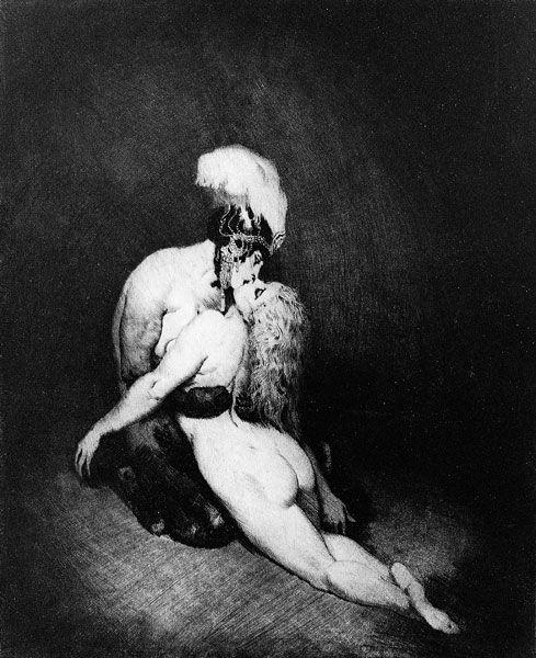 "Norman Lindsay (1879-1969)    ""DESIRE"" , etching"