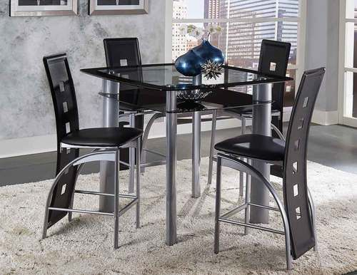 5 Pc Homelegance Sona Counter Height Dining Table Set 553236 Mesmerizing Height Dining Room Table 2018