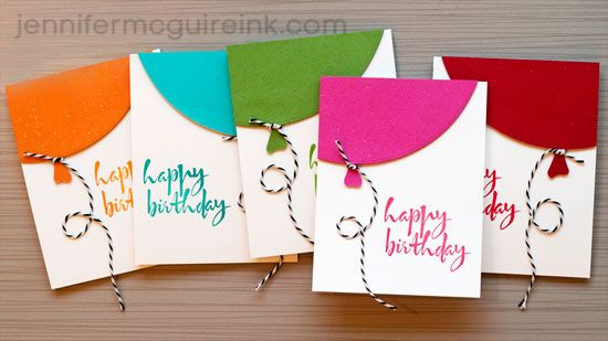 Video quick balloon cards cool new product big giveaway quick birthday balloon card video by jennifer mcguire ink love this card bookmarktalkfo Choice Image