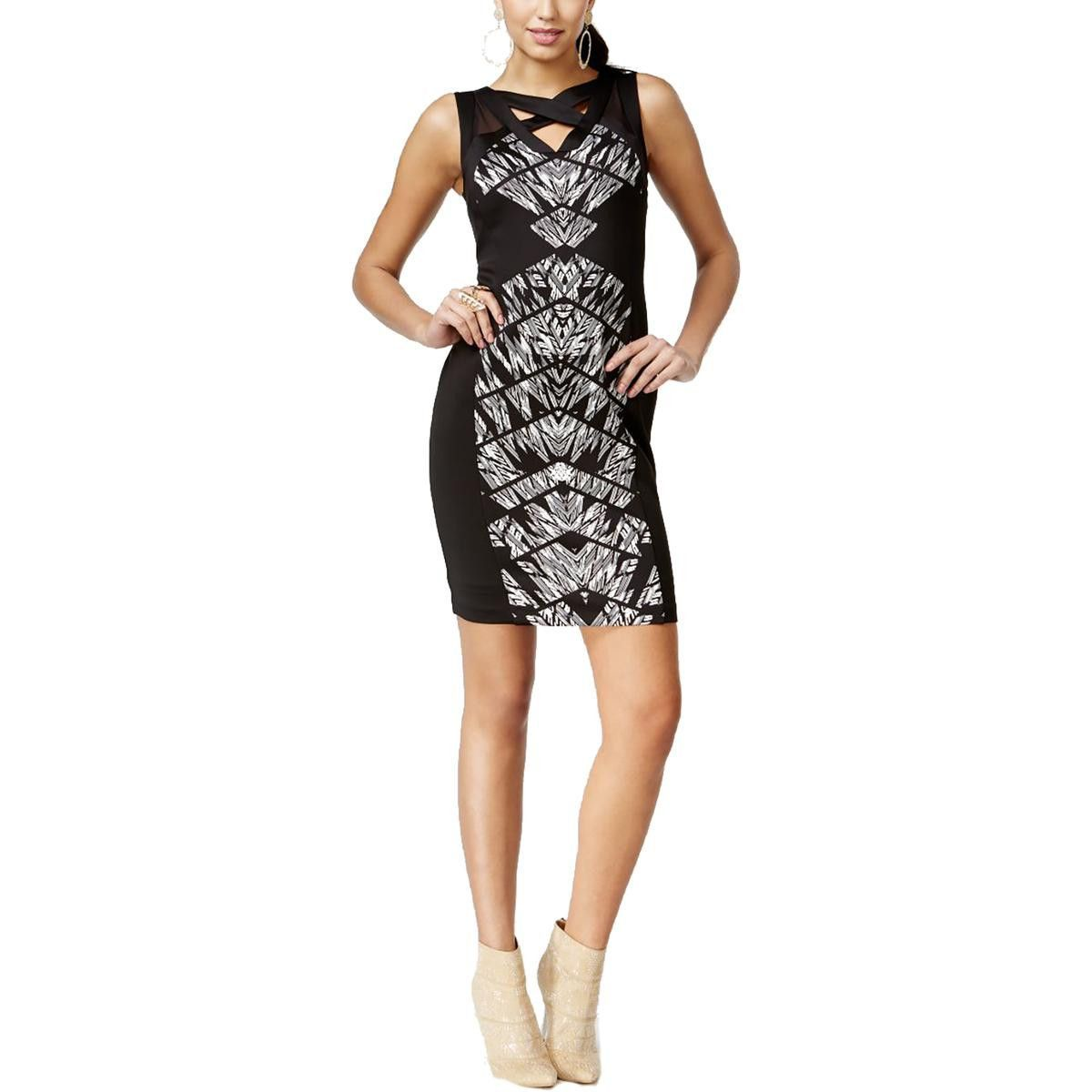 Wedding dresses at macy's  Thalia Sodi Womens Printed CutOut Cocktail Dress  Products