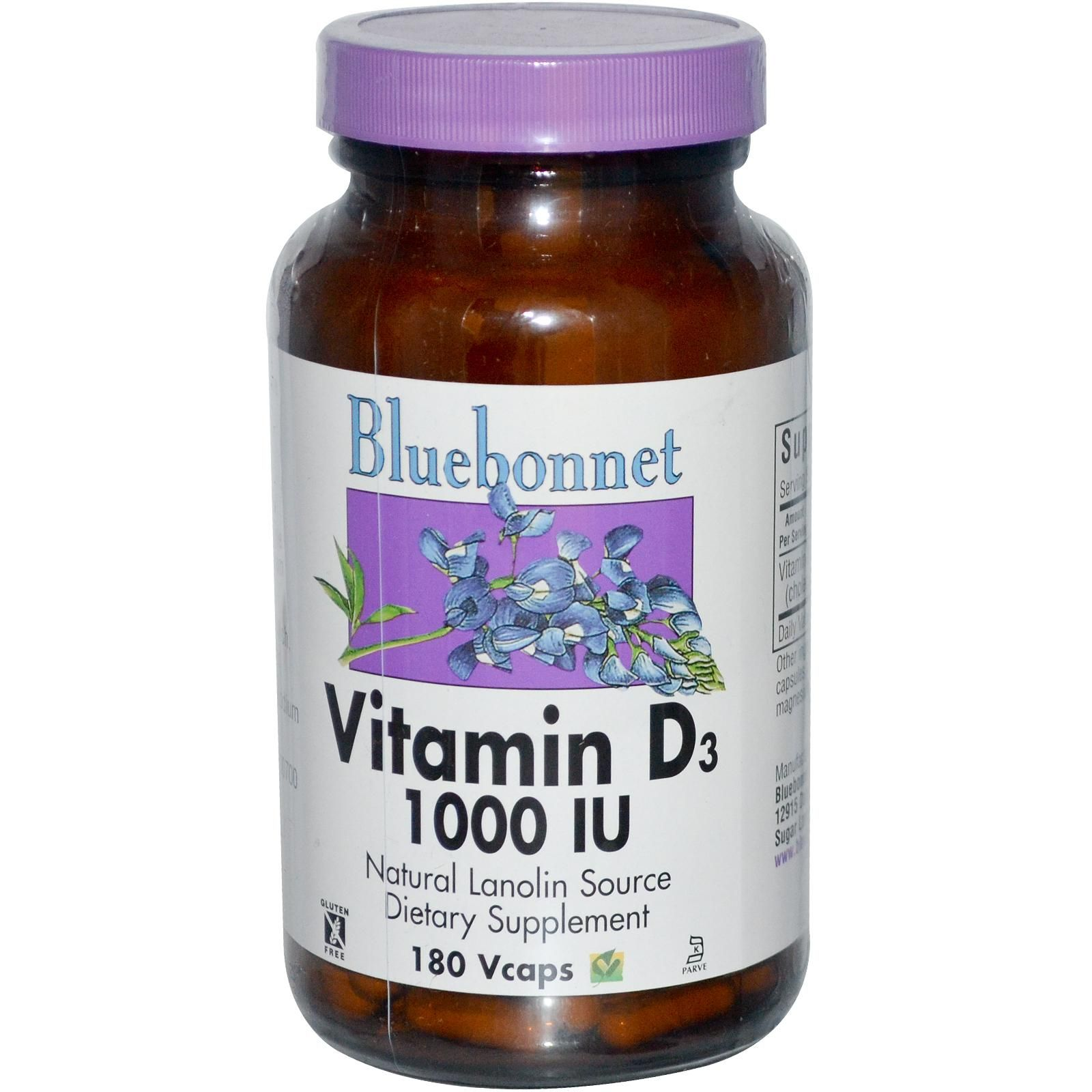 Nutrition, Vitamin D3, 1000 IU, 180 Veggie Caps