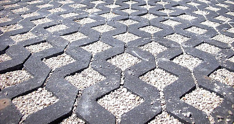 Grasscrete / Turfstone alternative driveway materials, permeable surface