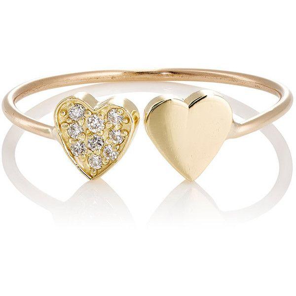 Jennifer Meyer Womens Two-Heart Cuff Ring OjQ1Cc