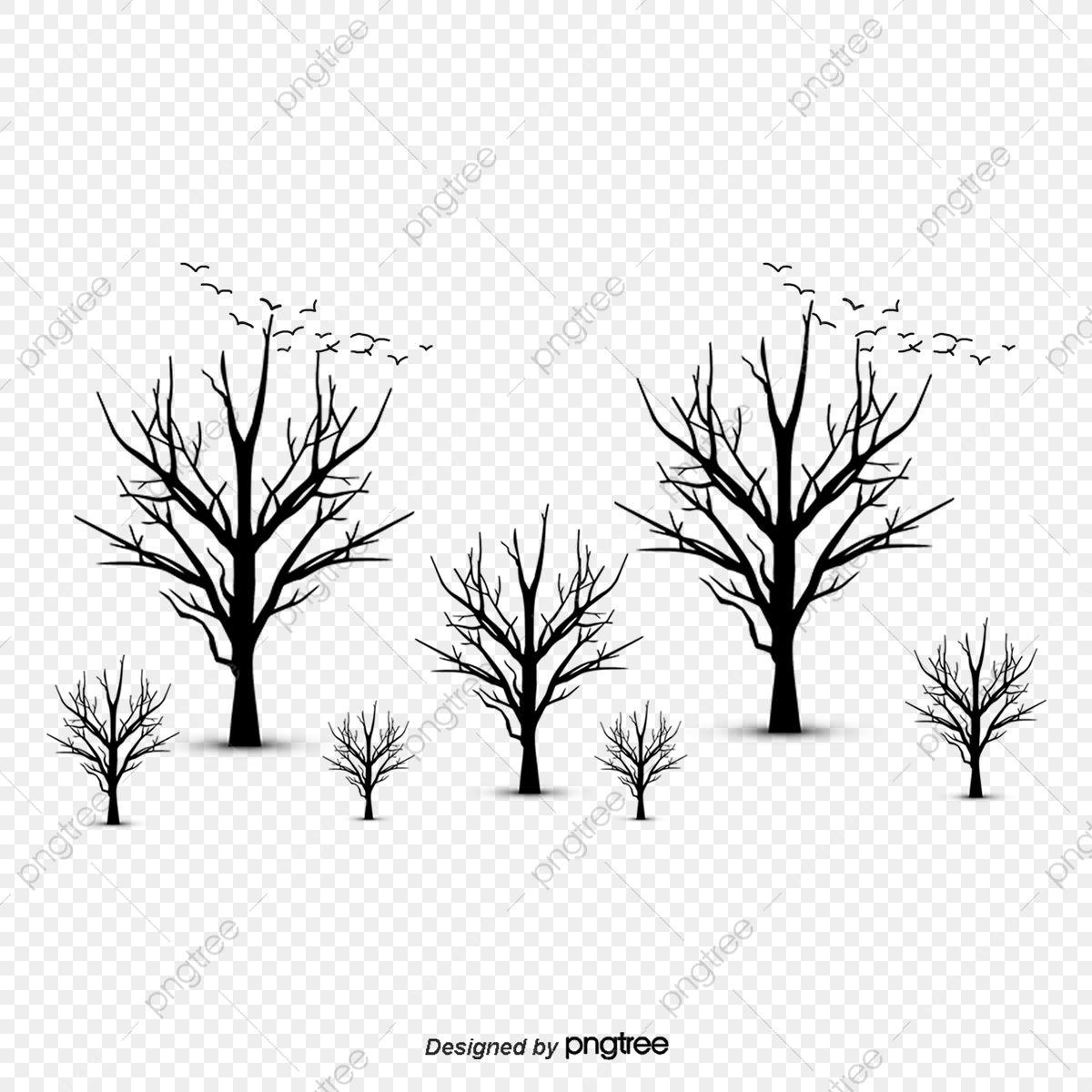 30+ Autumn Tree Clipart Black And White