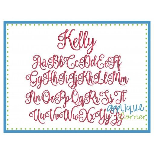 Kelly Embroidery Font