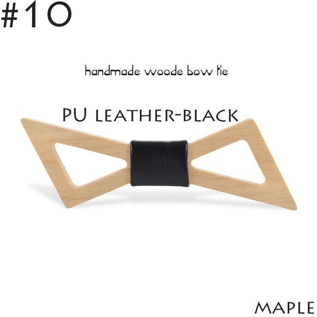 Oblique Corners Pierced Wooden Bow Tie Suit Wedding Leisure Wooden Bow Tie