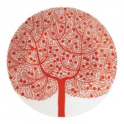 """ROYAL DOULTON -- Fable Collection, """"Red Tree"""" accent plate 22cm (also comes as a…"""