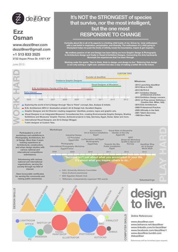 Graphic Designer Infographicresume  Portfolios And Resumes