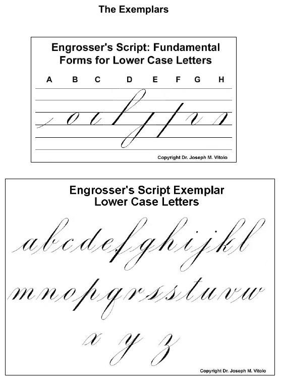 Script in the copperplate style engrosser s