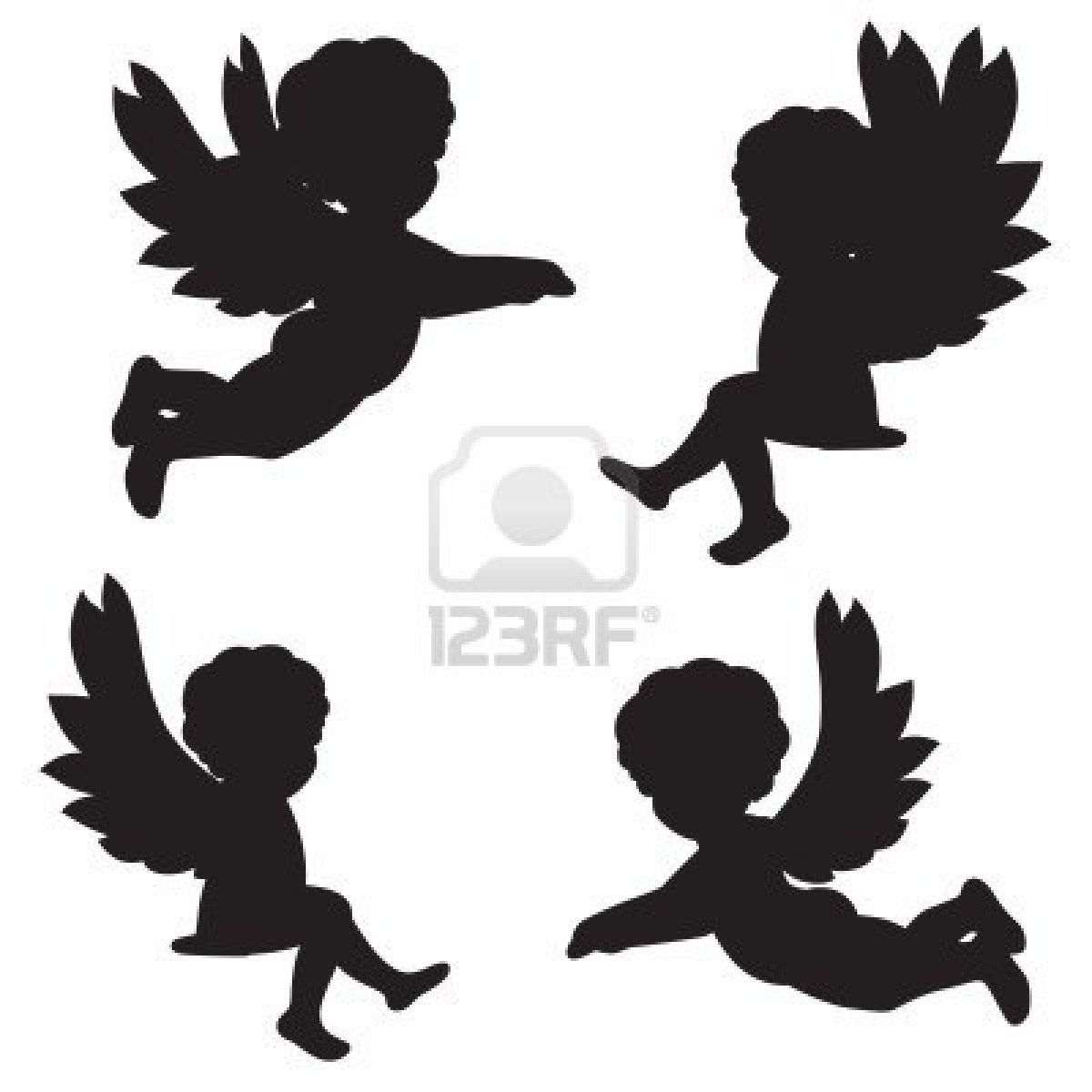 christmas angels silhouette angel silhouette tattoo designs christmas angel 6051
