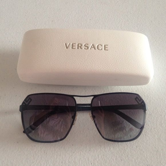 cd680229c22 Great condition. Comes with dust cloth and case. 100% authentic. I bought  them from sunglass hunt. Versace Accessories Sunglasses
