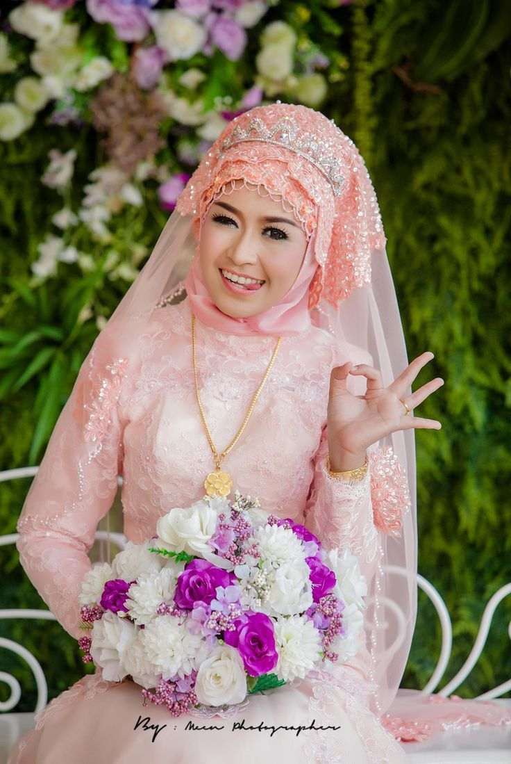 Pink Color Stylish Wedding Hijab Idea for Bridals | Brides Islam ...