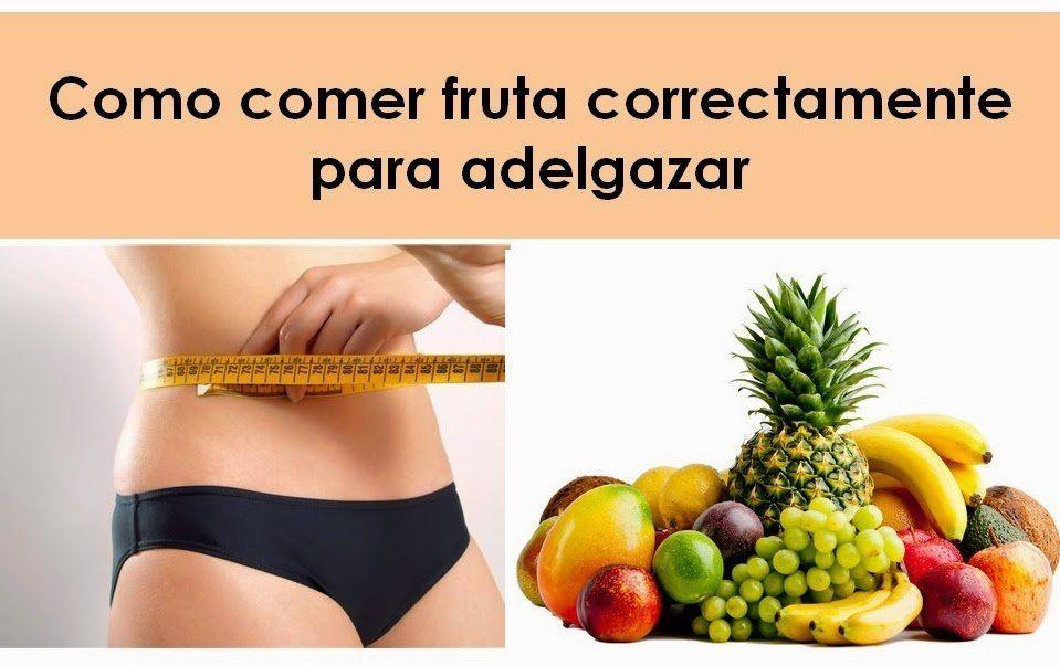 Como puedo bajar de peso comiendo frutas dulces
