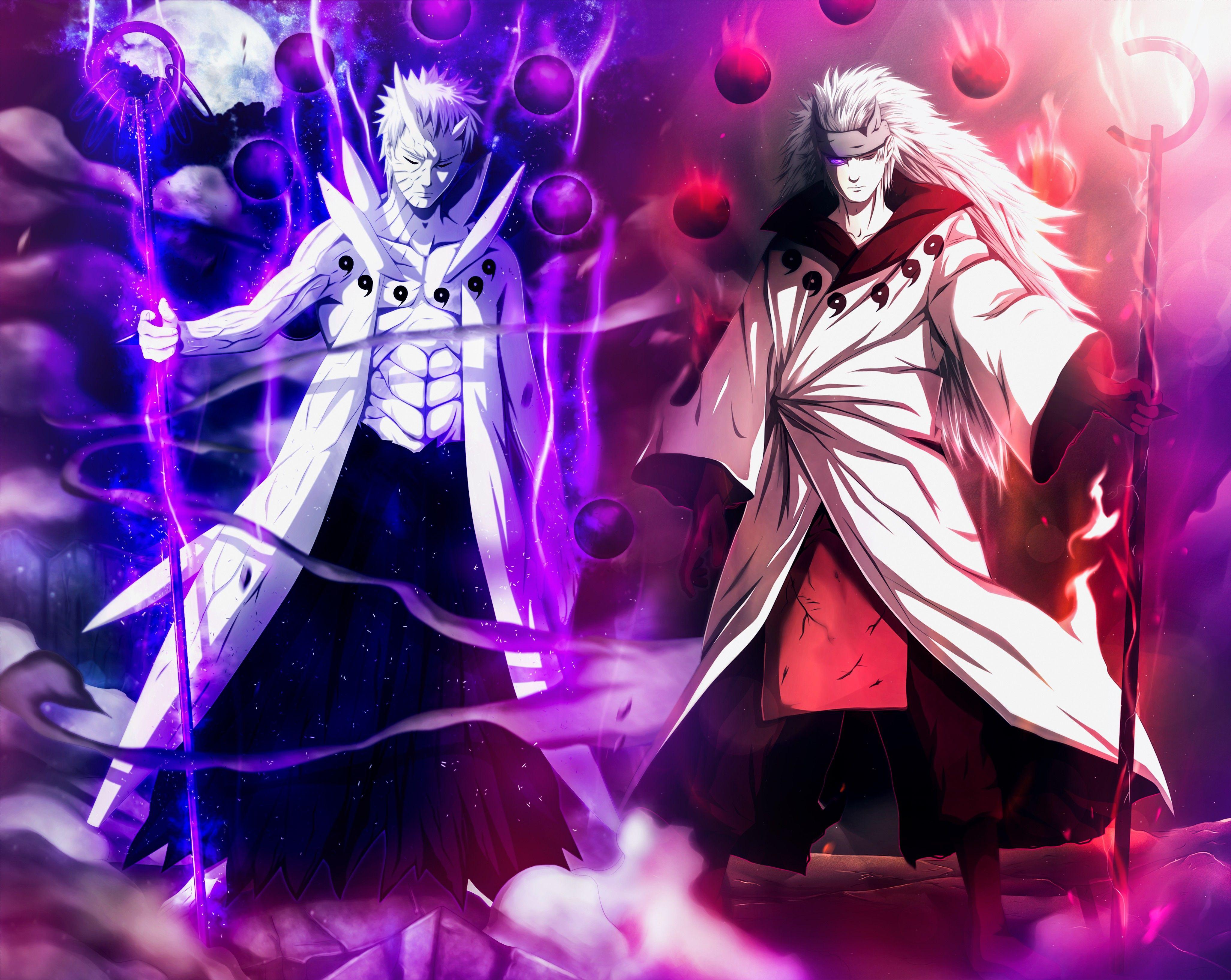 Anime Naruto Madara Uchiha Obito Uchiha Sage Of Six Paths