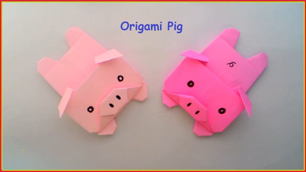 origami facile animaux origami pigs stephie 39 s board pinterest. Black Bedroom Furniture Sets. Home Design Ideas