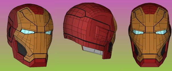 Life Size Iron Man Mark 46 XLVI Helmet For Cosplay Ver2 Free Papercraft Download