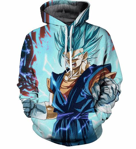 2ad2af8c9258 Mad Son Gohan Super Saiyan Blue Hair Flash Mystic Cool 3D Hoodie  dbz   dragonball  hoodies