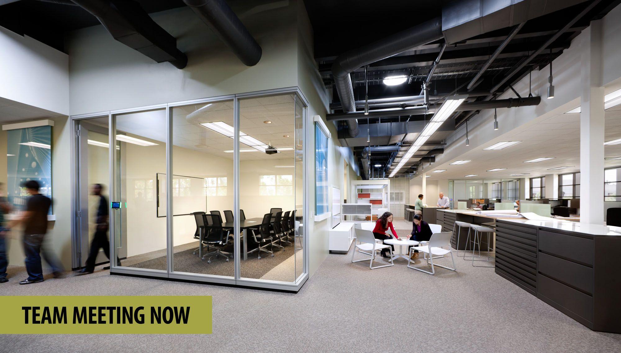 Modern meeting space office interior design modern