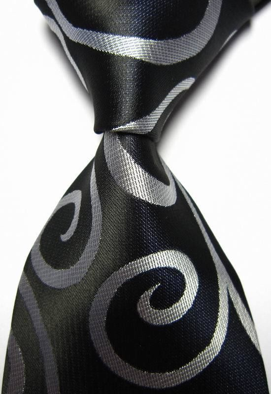New Classic Polka Dot White Dark Blue JACQUARD WOVEN 100/% Silk Men/'s Tie Necktie