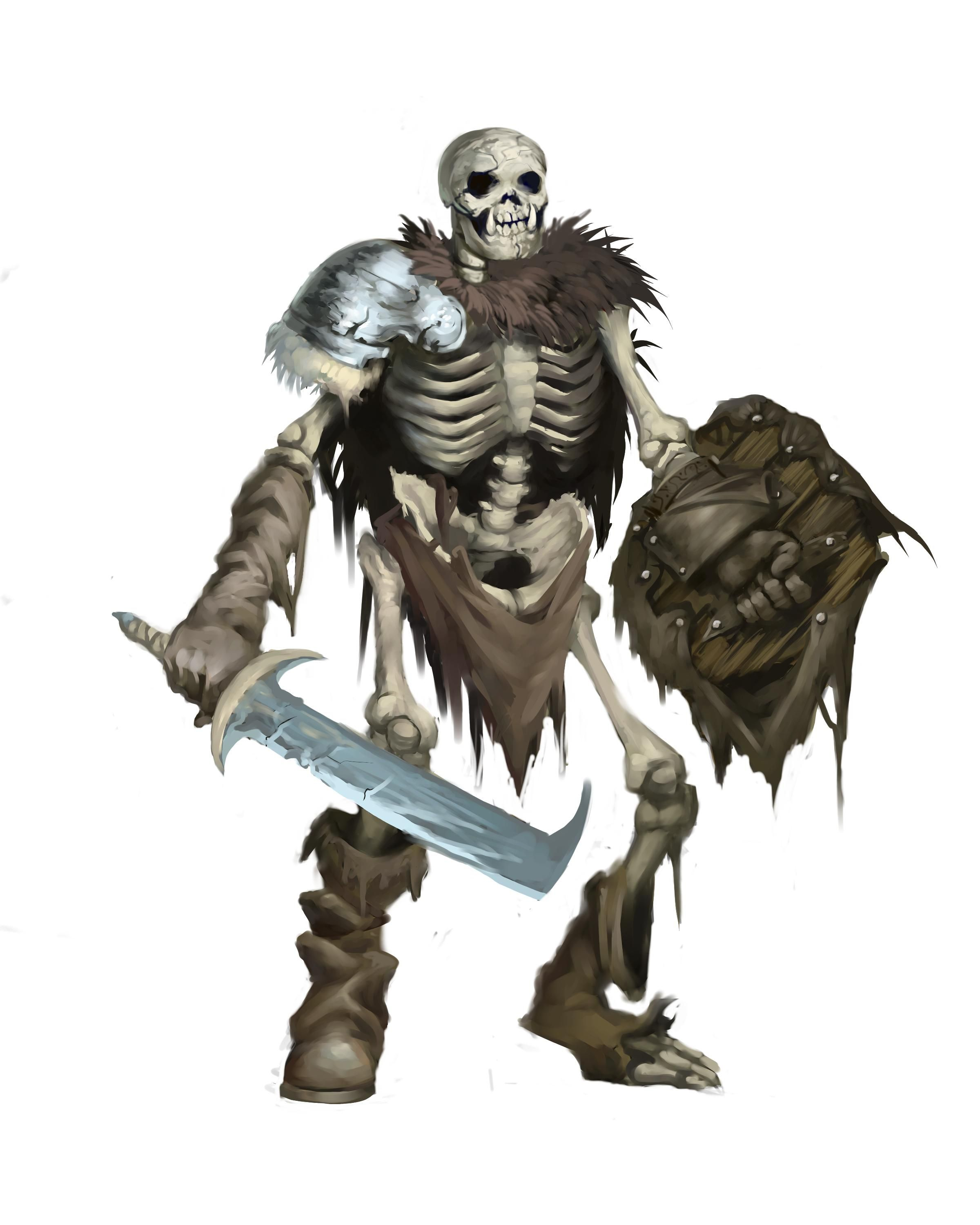 Orc Skeleton | Alternate DIY Pathfinder Pawn Art | Skeleton