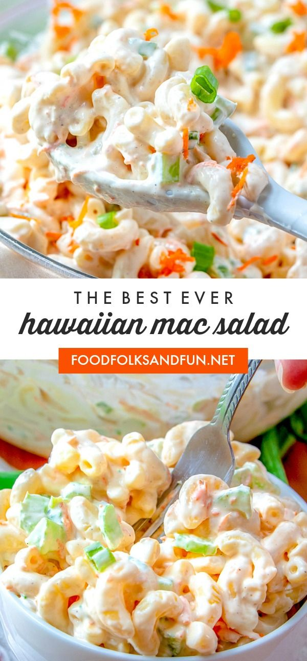BEST EVER Hawaiian Mac  Salad! #hawaiianfoodrecipes
