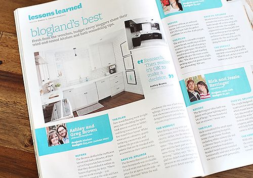 PAGE THIRTY - before & after kitchen renovation - Greg & Ashley Brown