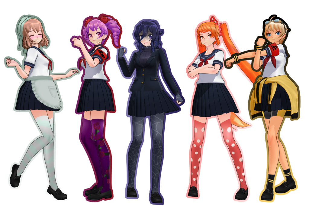 Tda Rival Stocking Textures By Ficiaxe Yandere Yandere Simulator