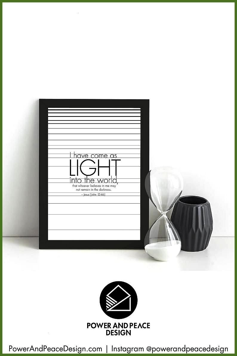 the good news of Jesus every day with this modern black and white Christian canvas The modern minim