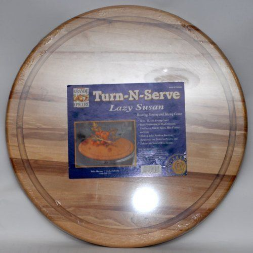 Grande Epicure M6090101 21 by 3/4-Inch Lazy Susan by Grande Epicure. $48.11. 21-Inch diameter. Table or counter use. Natural finish. Northern Hardwood. Made in USA. A quick spin of a lazy susan makes it easy to serve a whole table of guests. Never say pass the salt again. Place this lazy susan at the center of your table, and keep condiments and napkins within everyone's reach. The smooth, easy-spin tray is made of northern hardwood. Grande epicure is best known...