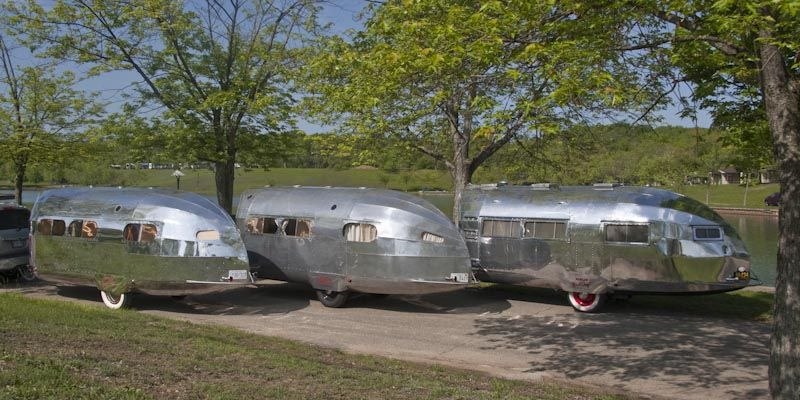 Pin on streamlined vintage travel trailers