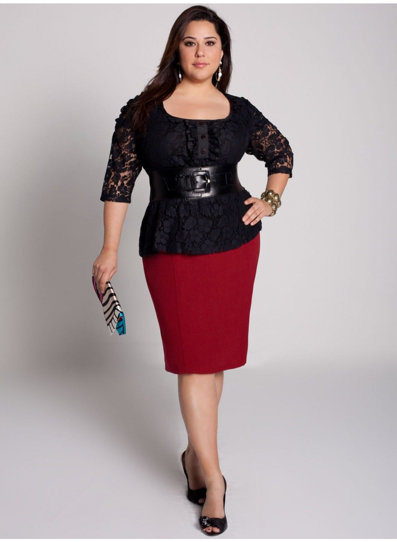 1331f5680 Modelos de faldas de fiesta para gorditas | moda | Falda recta para ...