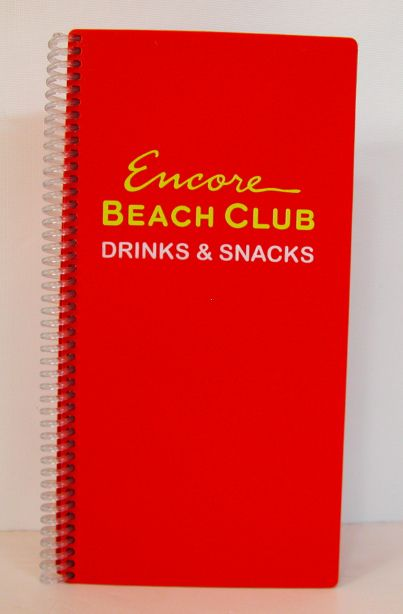 Encore Beach Club Menu In The Wynn Hotel Las Vegas Pinpantone