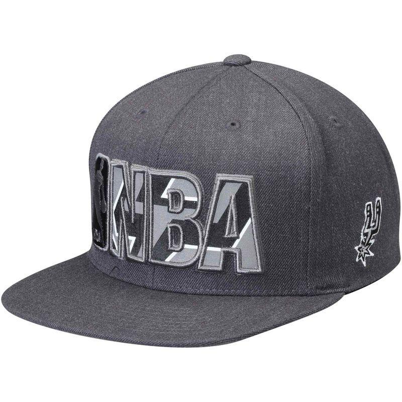 e6492f5173b27 San Antonio Spurs Mitchell   Ness Insider Reflective Snapback Adjustable Hat  - Gray