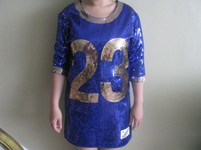 ce8f1855 ADIDAS ORIGINALS ObyO JEREMY SCOTT SEQUIN FOOTBALL FB JERSEY 23 dress sur  eBay.fr