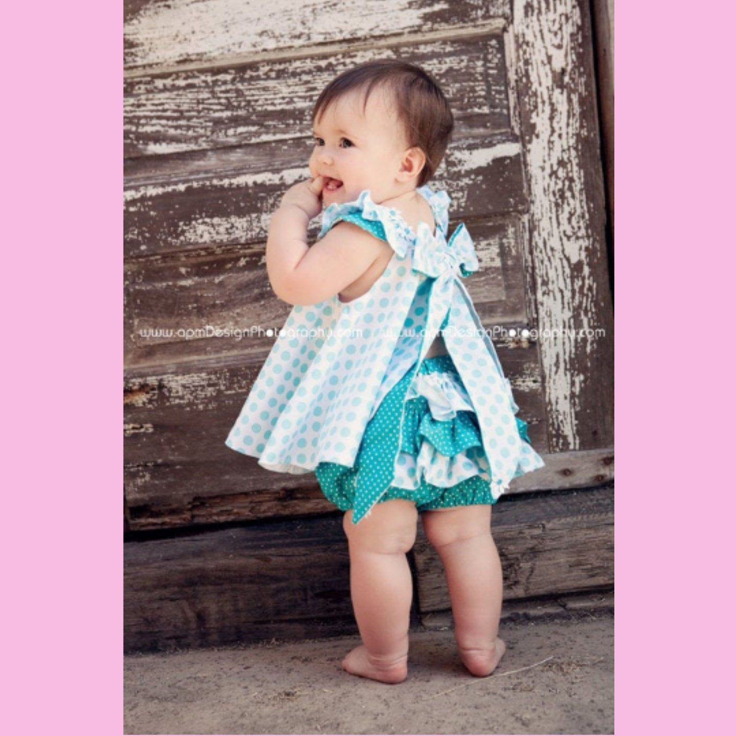 Baby and Girls Dress 1 00 2 4 3 Available in size 000 Handmade