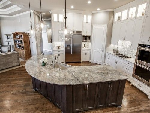 Beautiful Artistic Tile I Beautiful Brazilian Cielo Quartzite Countertop