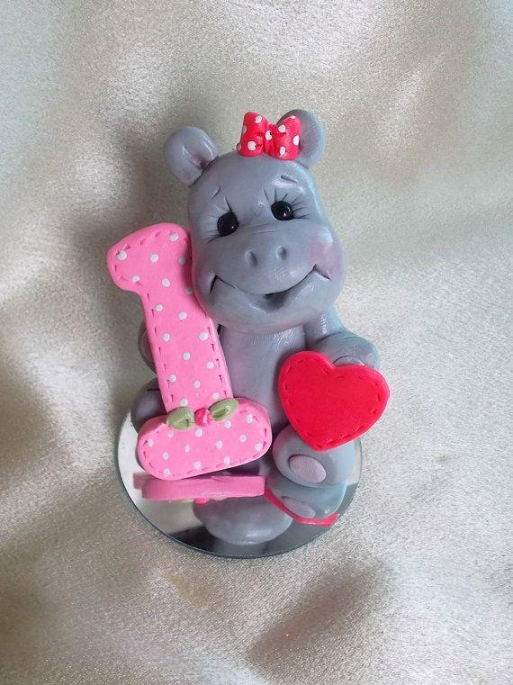 hippo hippopotamus birthday cake topper Christmas by clayqts, $2595