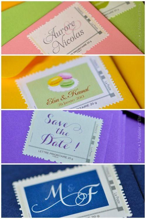 timbre mariage stamp wedding latelierdelsa creation sur