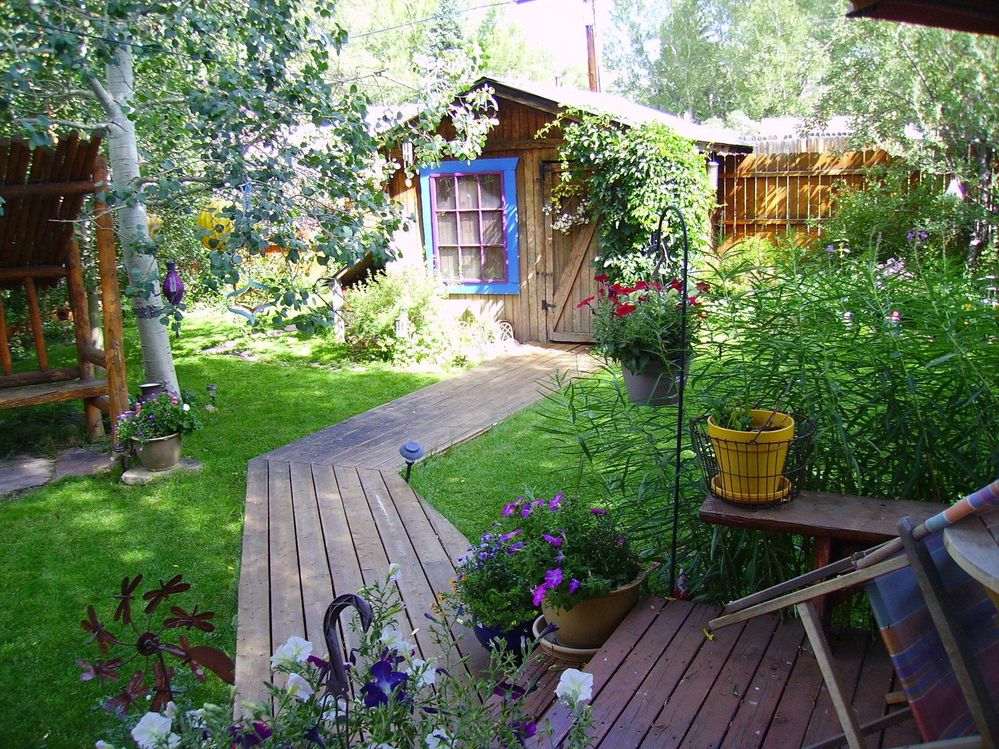 wood deck and pathway best backyards small pinterest