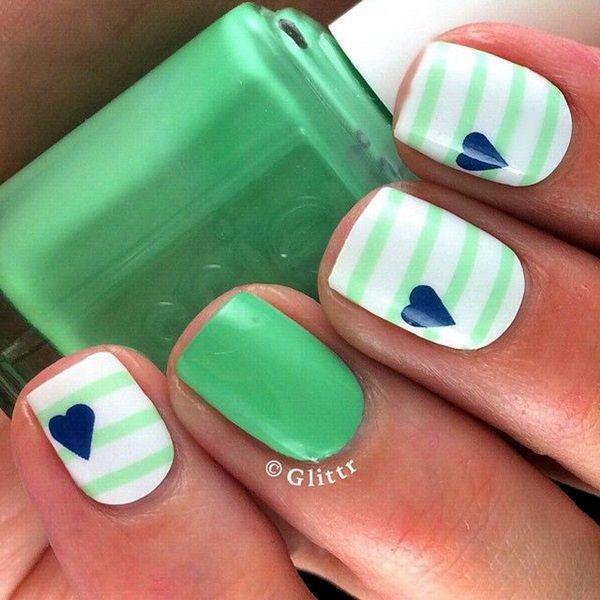 45 Creative and Pretty Nail Designs Ideas | Diseños de uñas, Uñas ...