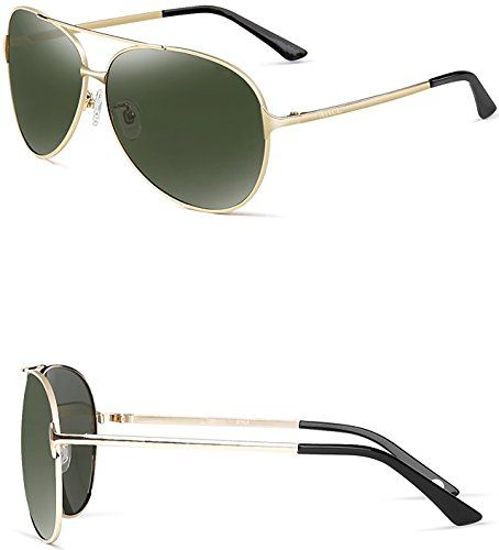 680efe5653e0 ATTCL Hot Classic Aviator Polarized Sunglasses For Men Golf Driving 8009  Gold -- Read more at the image link.Note:It is affiliate link to Amazon.