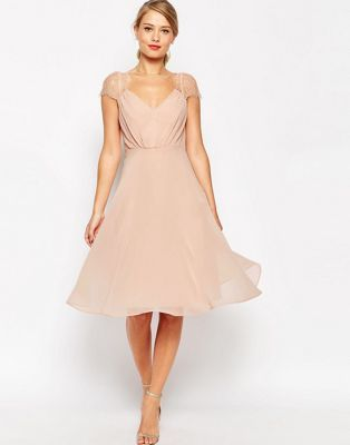 ASOS – Kate – Spitzenkleid in Midi-Länge Kleider Für Hochzeitsgäste,  Brautjungfern Kleider, 34da9c0cdb