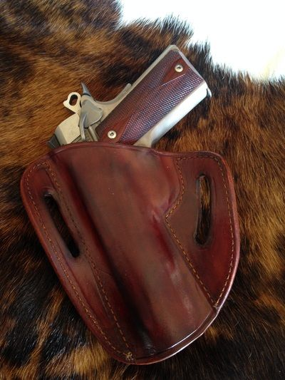 Pancake Holster - Rich Brown Dye