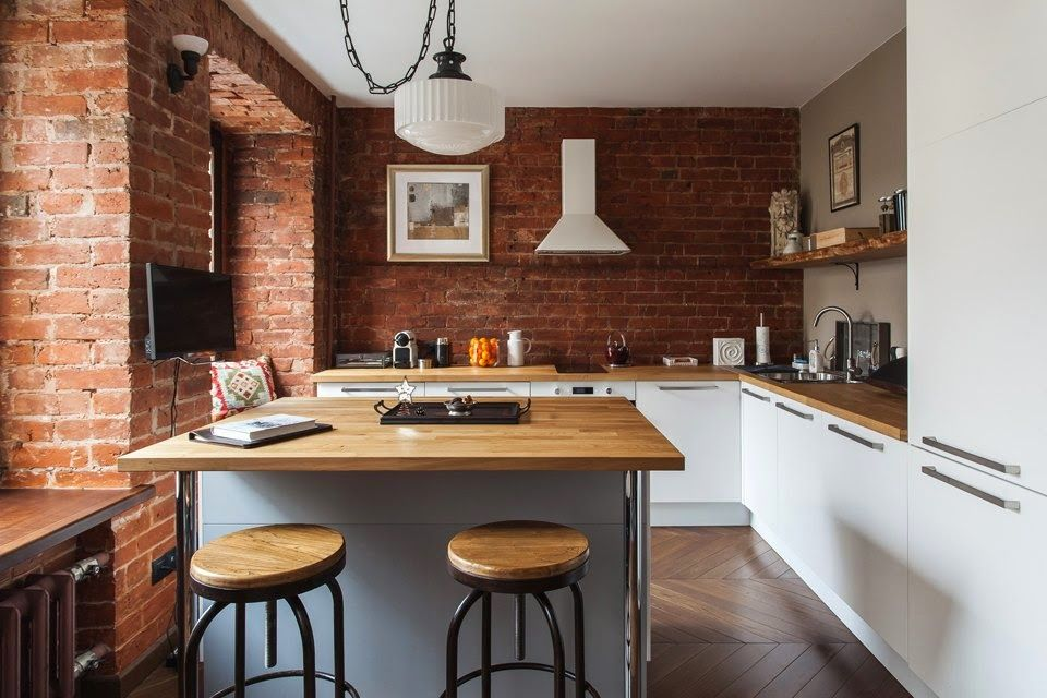 brick studio apartment. Studio Apartment Stays Authentic By Keeping Its Brick Walls Intact
