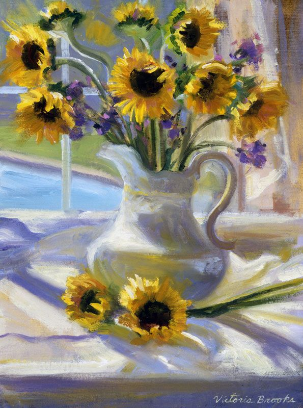 Sunflowers in the Window Victoria Brooks
