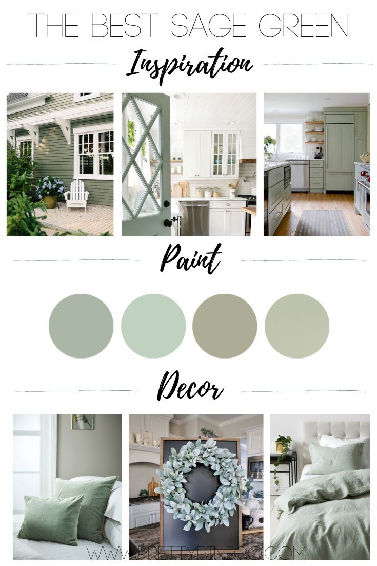 The Best Sage Green Paint, Inspiration And Decor