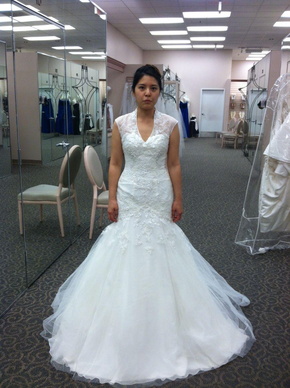 Melissa Sweet Cap sleeve fit & flare Size 3 Wedding Dress ...