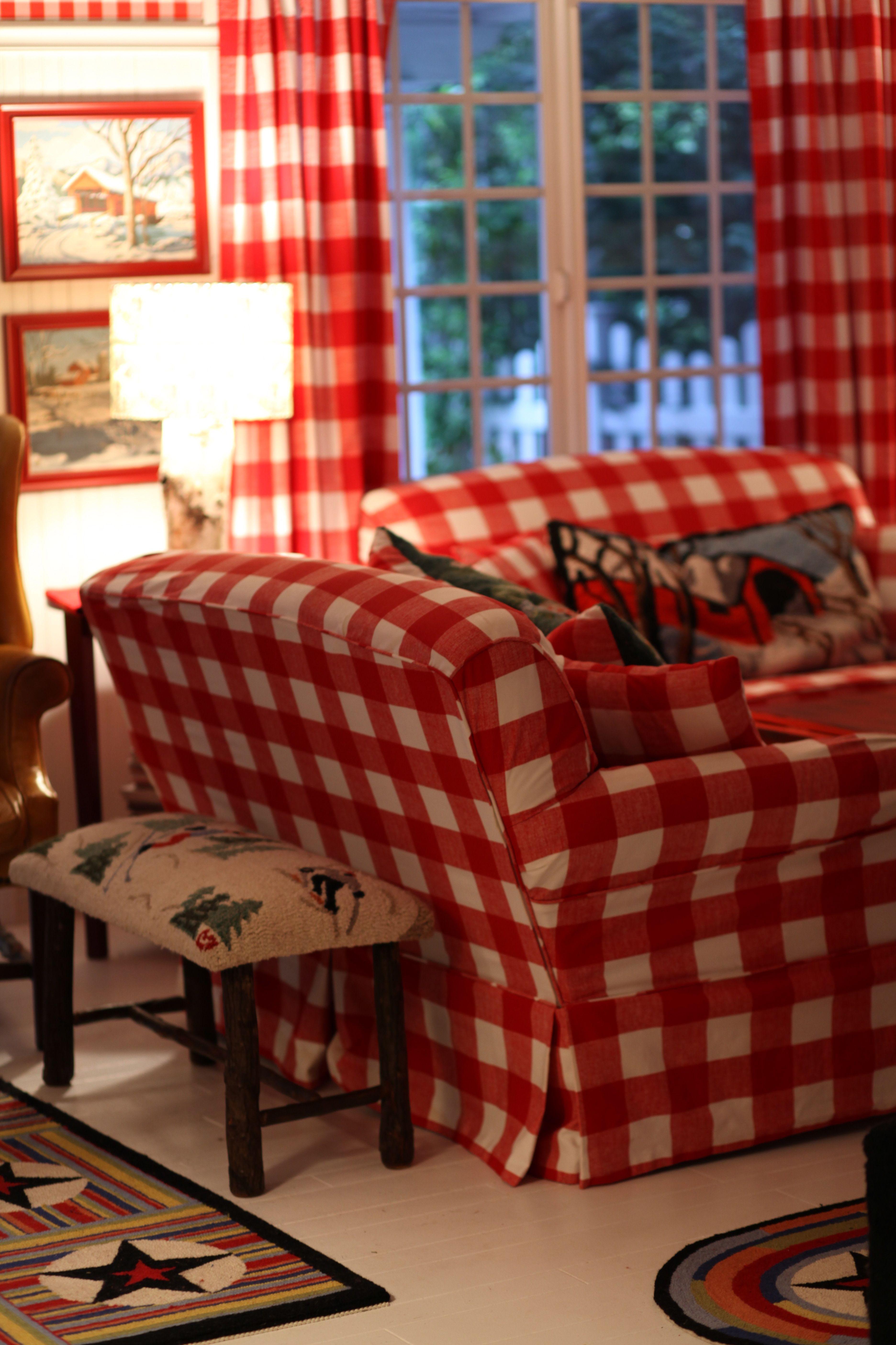 Red Buffalo Checks Home Decor Red Rooms White Decor